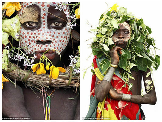 Photographer spends seven years taking intimate portraits of African tribes