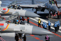 Getting close to the crew on China's aircraft carrier