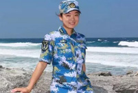Charming female soldiers on Xisha Islands