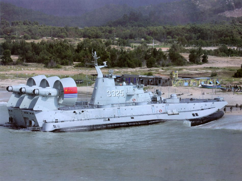 Chinese navy's air-cushioned landing craft in pictures