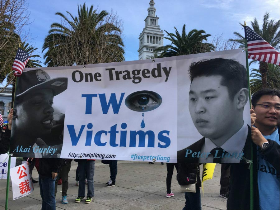 Thousands in San Francisco protest conviction of police officer Peter Liang