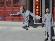 Young monks learn kungfu in NE China temple
