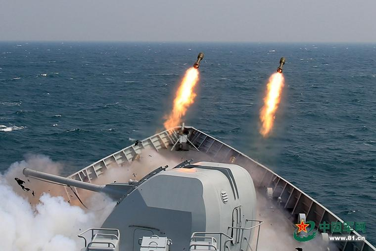 PLA Navy stages live-ammunition drill in S. China Sea