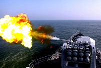 East Sea Fleet conducts combat drills