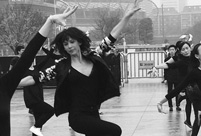 Sophie Marceau goes square dancing in Guangzhou