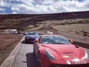 Six Luxury Sports Cars Totaled after Fail Attempts to Cross China's Most Perilous Highway Linking SW China's Sichuan and Tibet