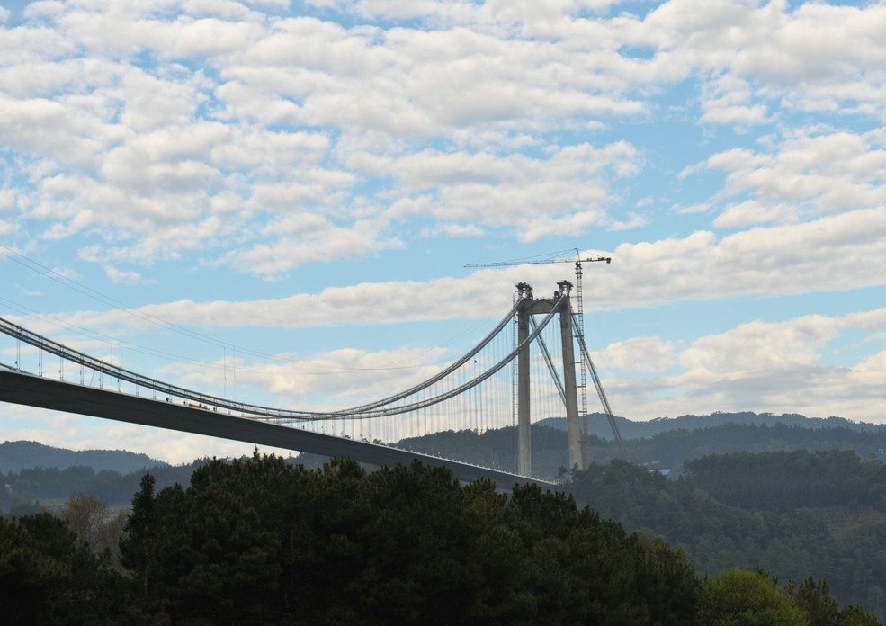 Asia's longest and highest suspension bridge to open to traffic