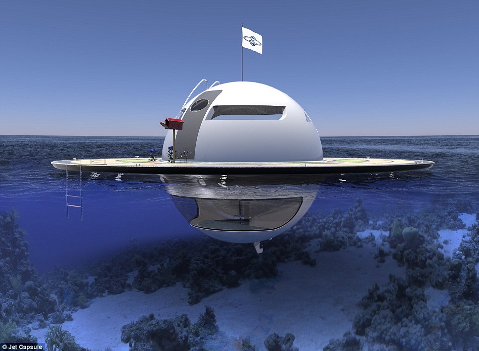 Out of this world! Futuristic UFO-shaped yacht has its own garden and a stunning underwater viewing deck
