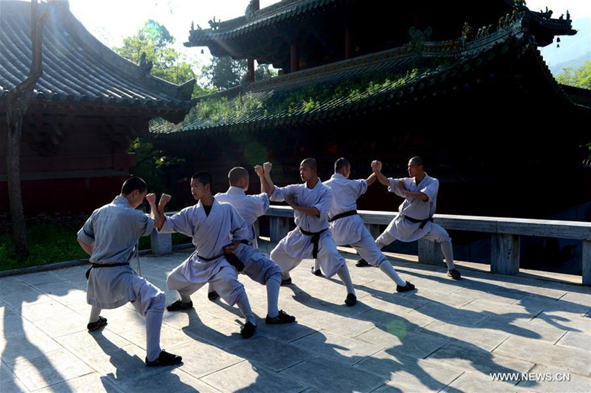 Monks' lives at Shaolin Temple in central China