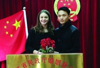 French girl ties the knot with Chinese boy