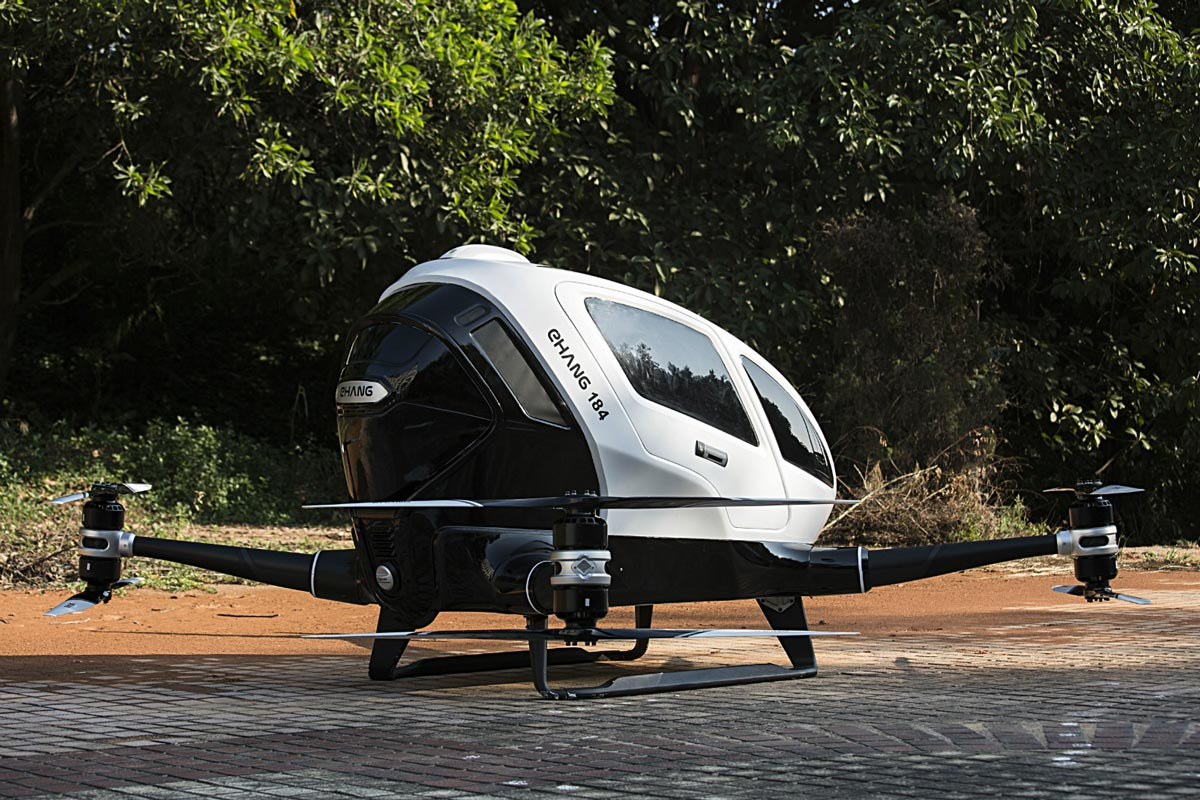 Chinese company to test world's first single-passenger drone in US