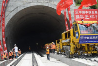 Guizhou, Yunnan section of Shanghai-Kunming railway connected