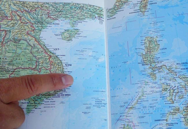 US Publisher Marked Huangyan Island As Chinese Territory In - Huangyan map