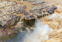 Magnificent view of Hukou Waterfall