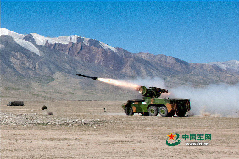 Ground and air combat confrontation drill held in northwest China
