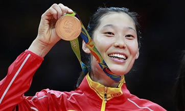 Star spiker Zhu Ting becomes hometown hero