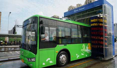 Fifty electric buses put into operation in east China