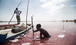 Senegal's pink lake of white gold