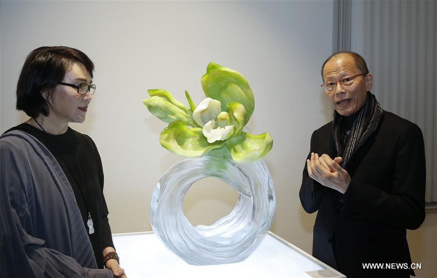 Chinese glass art exhibition held in Brussels