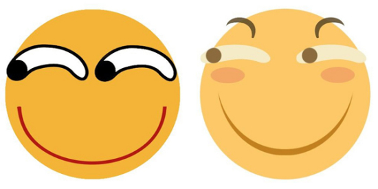 A Contrast Of The Drool Emoji Left And The Updated Funny Emoji Right Photo Provided To Chinadaily Com Cn