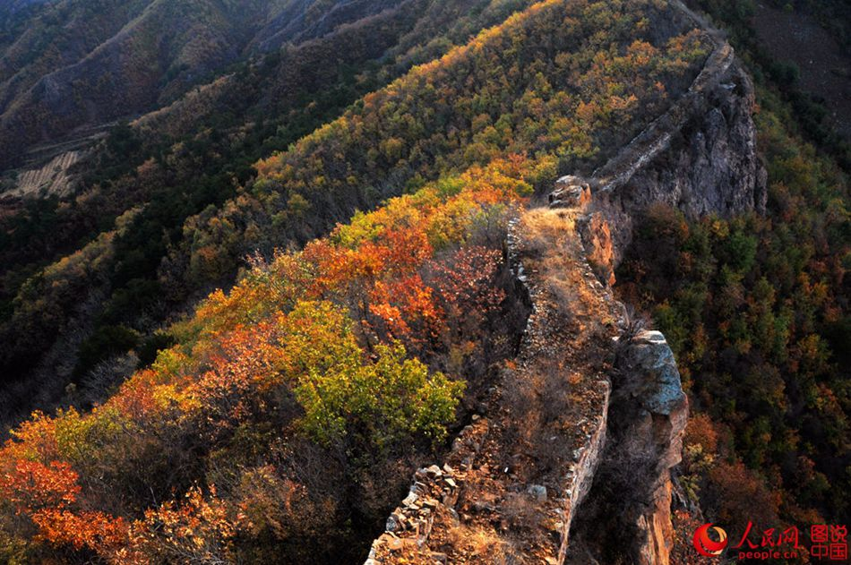 A glimpse of Zhuizishan Great Wall in late autumn