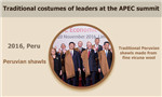 Traditional costumes of leaders at the APEC summit