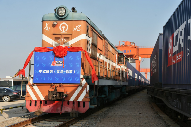 China Railway Express makes small item freight delivery from Yiwu to London