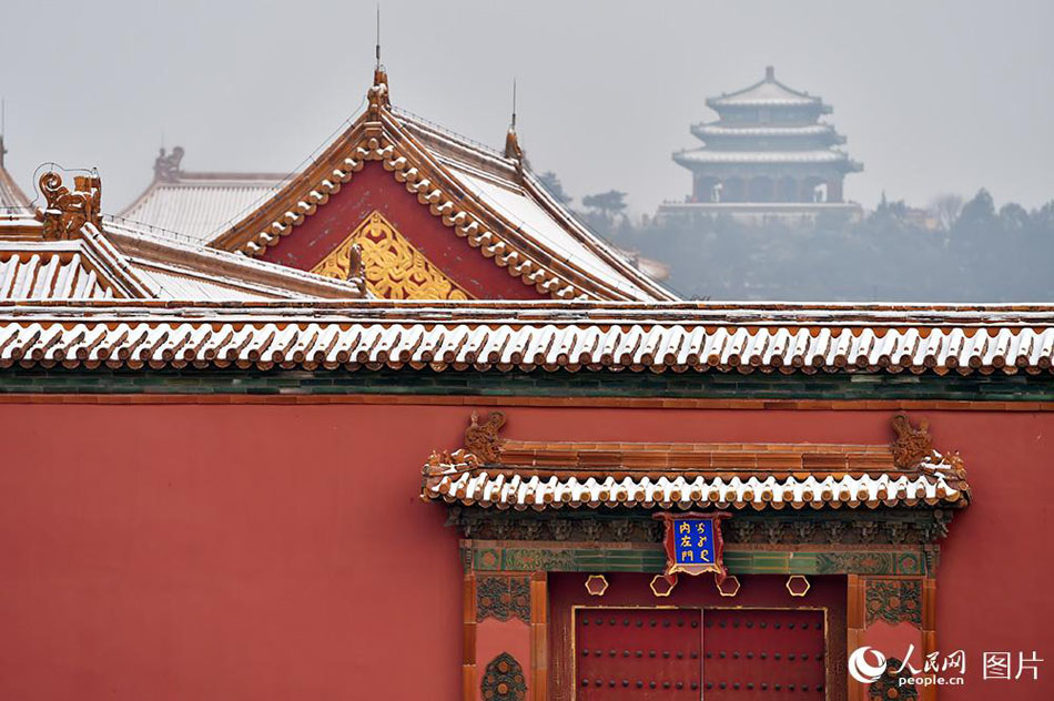 Enjoy the poetic beauty of Palace Museum coated in snow (5