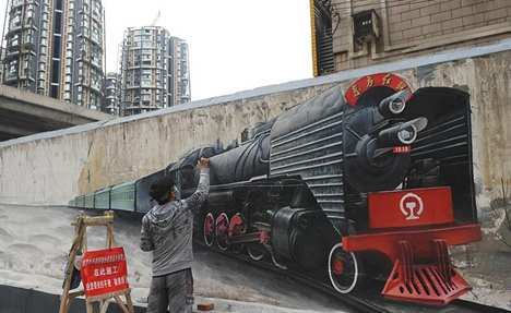 Wall paintings depict history of Chengdu