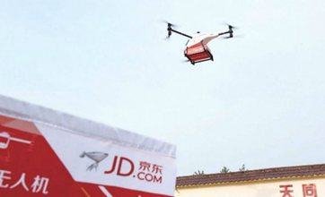 JD.com to build 150 airports for drone delivery in SW China