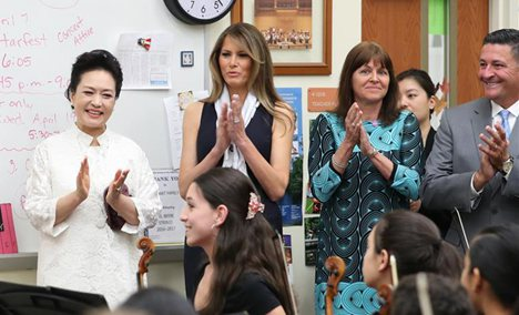 Chinese first lady visits U.S. art school