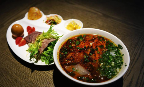 Beef noodle soup: a calling card of Lanzhou
