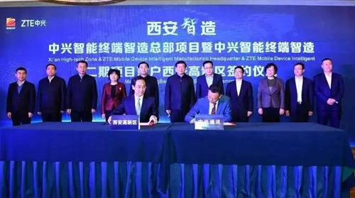 ZTE Mobile Device Intelligent Manufacturing Headquarters settles in XDZ
