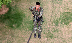 Air ballet: Chinese armed police takes rappelling training in Guangxi