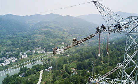 Power transmission project completed in SW China