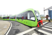 World's first driverless rail transit system unveiled in Hunan