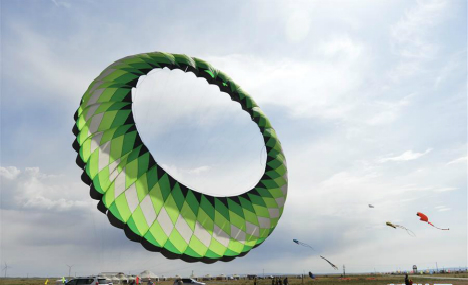 Kite-flying competition in Inner Mongolia