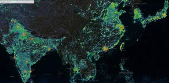 India Looks Brighter Than China On A Map But Really Its Not - Earth map us china