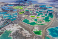Qinghai's emerald-green Salt Lake