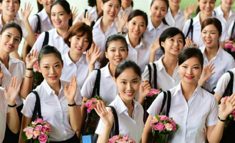 First Xiamen Airlines Taiwan cabin crew