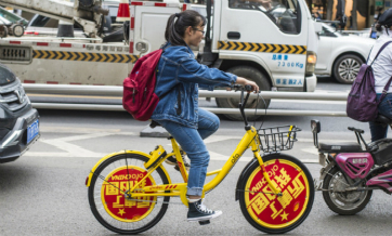 Bike-sharing becomes greener way to travel in 'Golden Week'