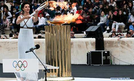 Handover ceremony of Olympic Flame held in Athens