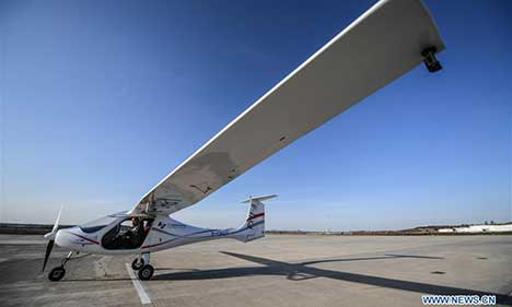 Advanced version of China's 1st electric plane