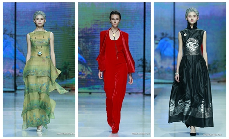 Creations of Hou Zhijie staged at China Fashion Week