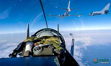 Aerial refueling drills carried out in southern China