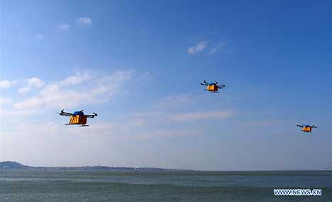 Alibaba's drones deliver packages to islands