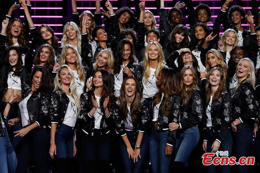 Victoria's Secret models gather before big show