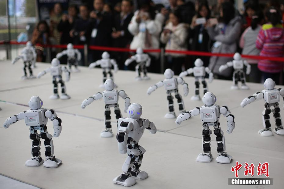 In pictures: Catchy robot dancers at global summit on intelligent manufacturing
