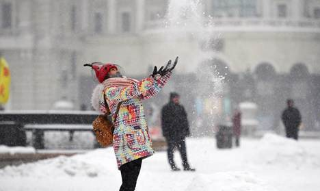 Heavy snowfall hits NE China's Heilongjiang Province