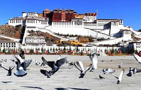 Early spring scenery in Lhasa